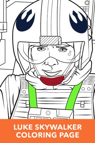 Luke Skywalker Coloring Page