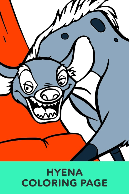Hyena Coloring Page