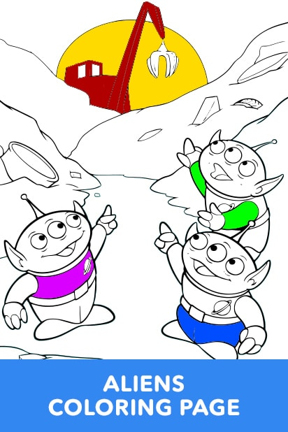 Aliens Coloring Page