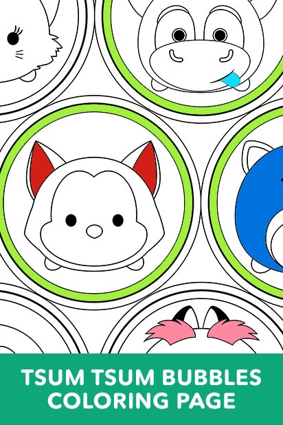 Tsum Tsum Stack Coloring Page Disney Games Philippines