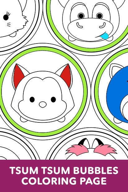 Tsum Tsum Bubbles Coloring Page