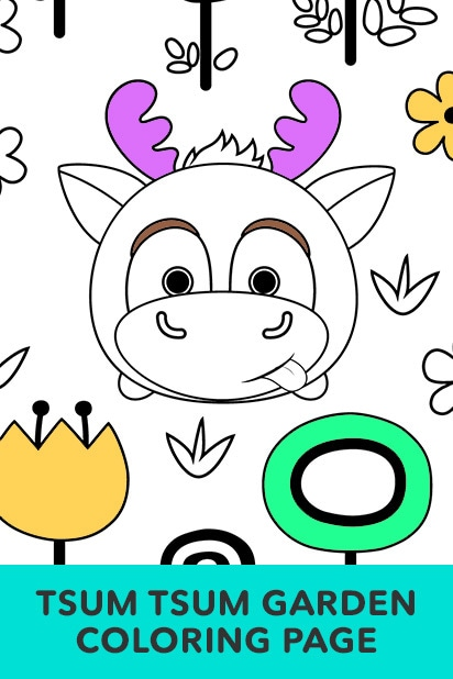 Tsum Tsum Coloring Pages Disney LOL