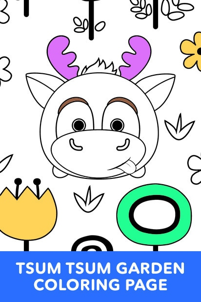 Tsum Tsum Garden Coloring Page