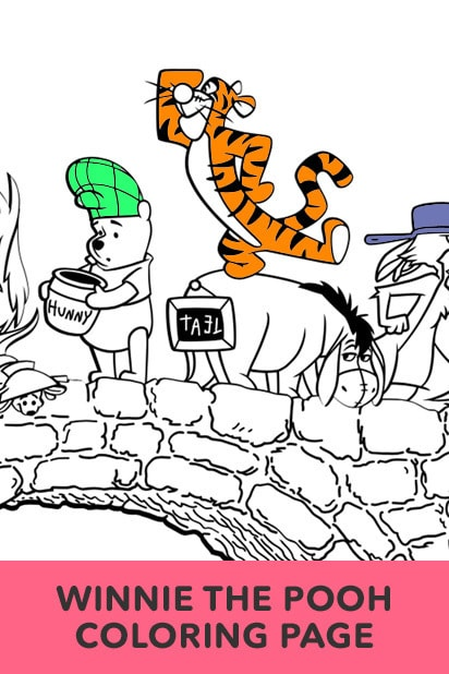 Winnie the Pooh, Rabbit, Tigger, Piglet Coloring Page