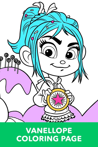 Vanellope Coloring Page