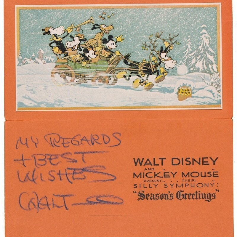 Our Current Obsession This Season: Holiday Artwork in The Disney Christmas Card Book