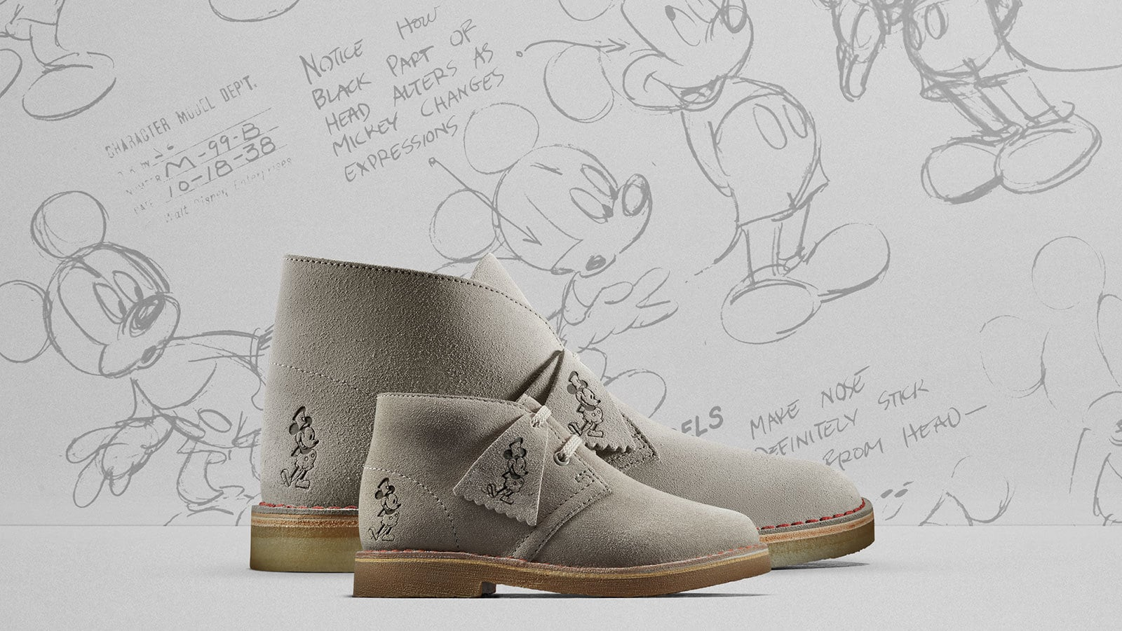 Clarks Originals Celebrates Mickey's 90th With Their Classic Desert Boot