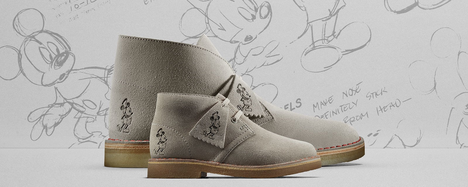 Clarks Mickey Mouse themed limited-edition Desert Boot
