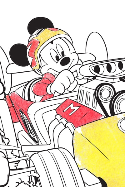 Mickey Colouring Page
