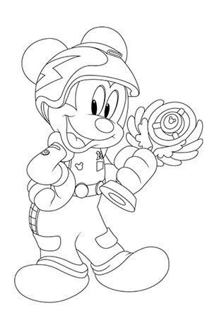 Coloriage Mickey et la coupe