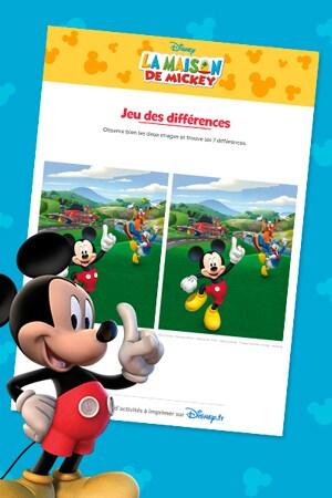 Jeux des différences Mickey Top départ