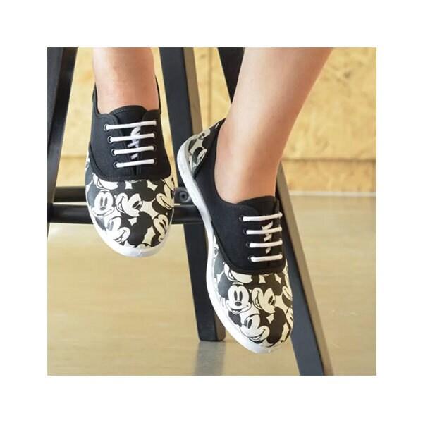 Disney รองเท้าผู้หญิง ผ้าใบ NORTH STAR CLASSIC MICKEY สี ดำ รหัส 5296619