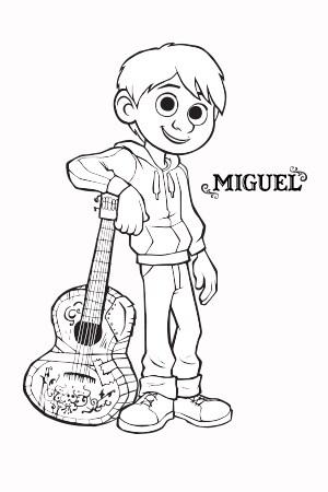 Coco - Miguel - Coloring Page