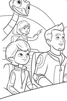 Miles From Tomorrowland - Callisto Family Colouring Page