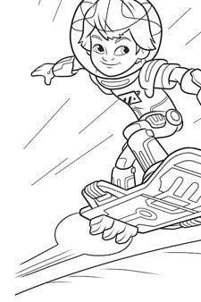 Miles From Tomorrowland - Miles Colouring Page