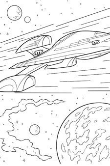 Miles From Tomorrowland – Stellosphere Colouring Page