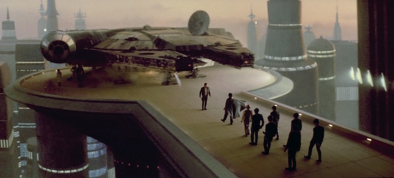 The Millennium Falcon on Bespin