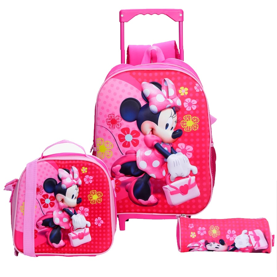 Minnie Mouse 3-Piece Trolley Backpack Set
