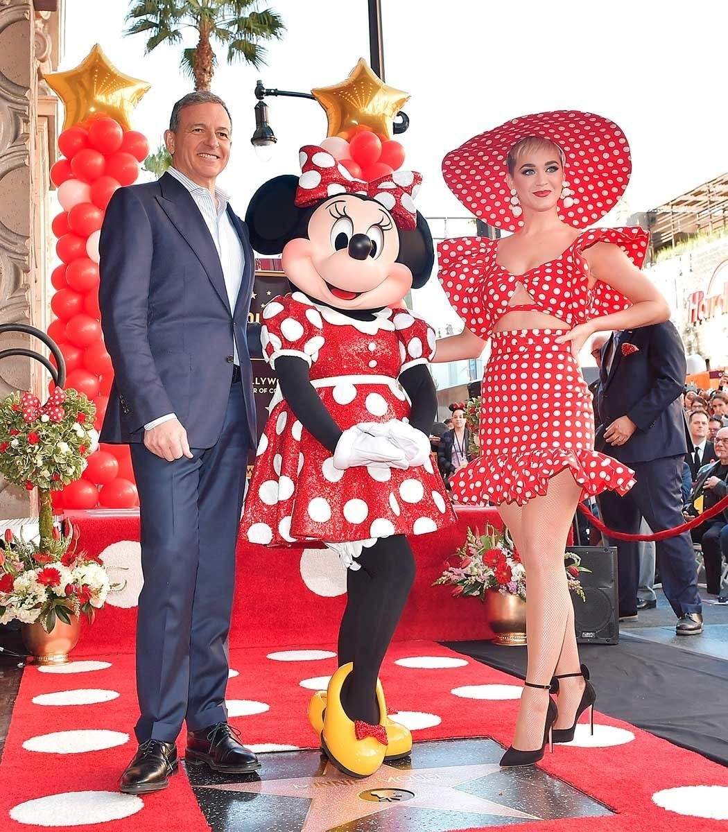 Bob Iger, Minnie Mouse and Katy Perry on the Hollywood Walk of Fame