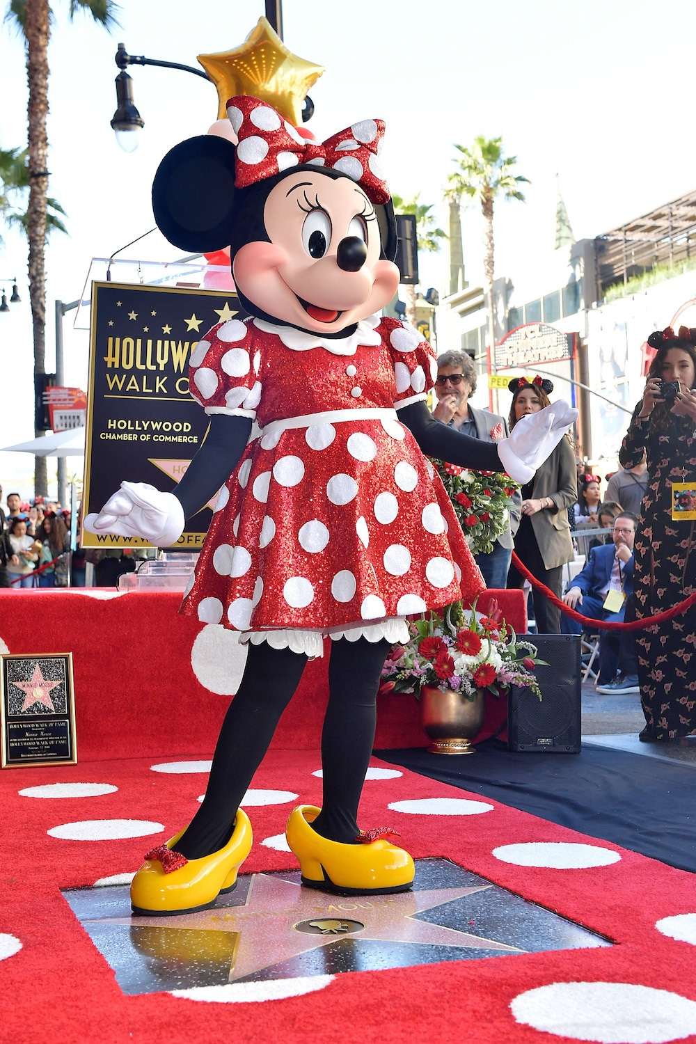Minnie Mouse at the Hollywood Walk of Fame Celebration
