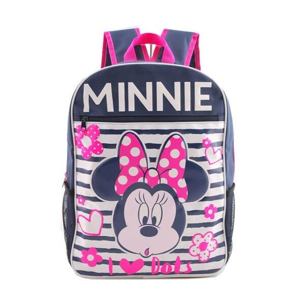 Disney Mickey Mouse กระเป๋าเป้ กระเป๋านักเรียน กระเป๋าสะพายหลัง (สีน้ำเงิน)