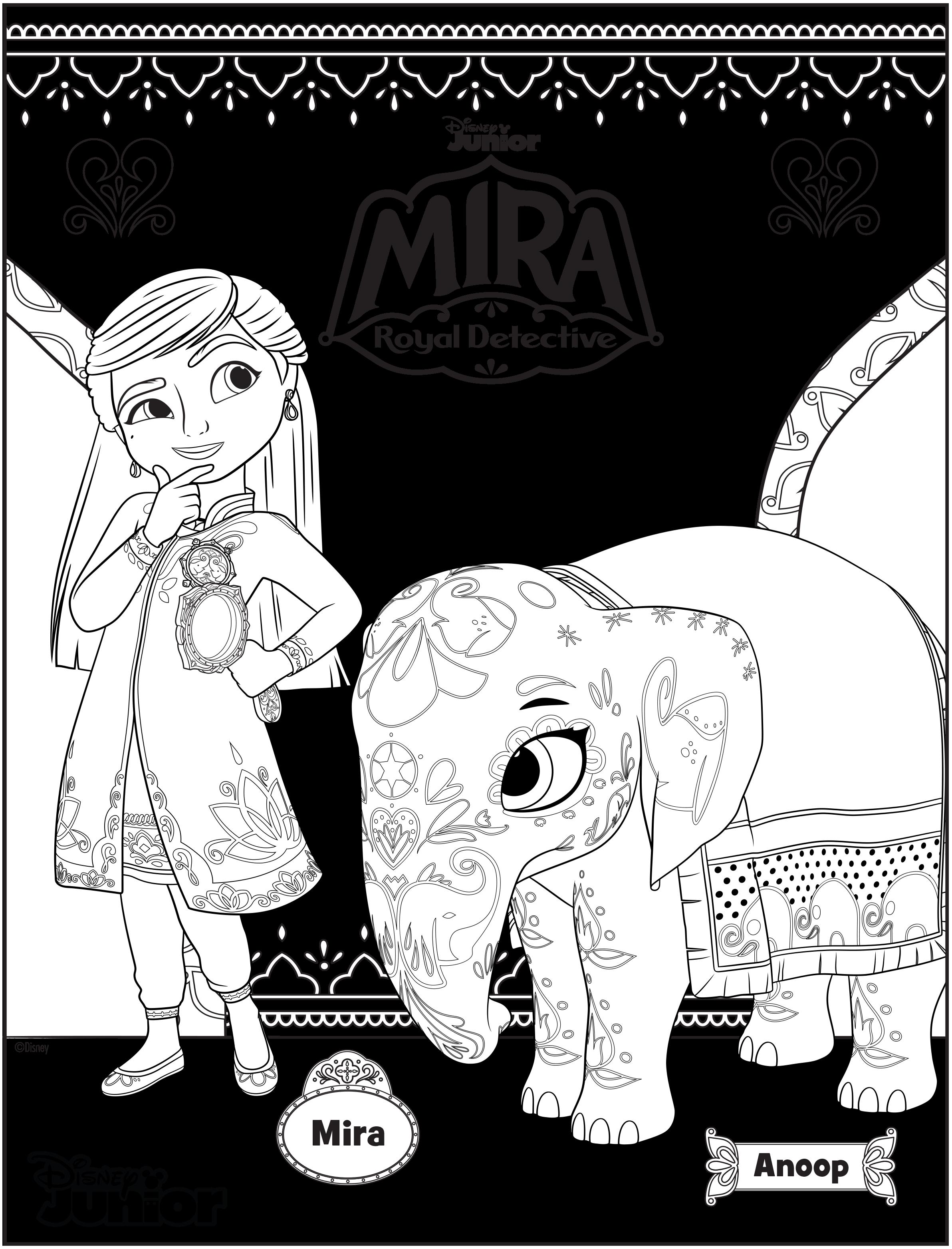 Enjoy These Three Mira Royal Detective Coloring Sheets Disney News