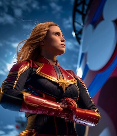 Captain Marvel from the Disney Cruise Line during Marvel Day at Sea