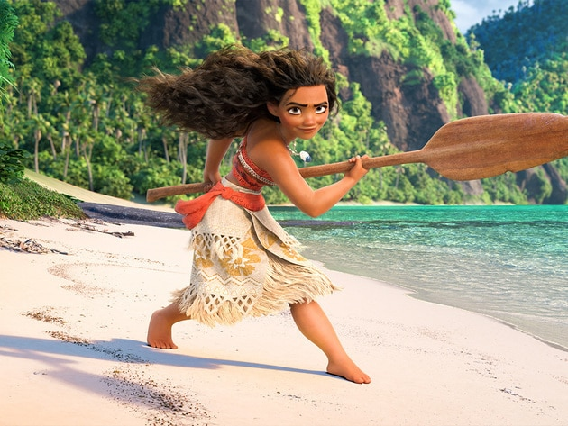 Moana is a teenager who dreams of becoming a master wayfinder. She is voiced by Auli'I Cravalho.