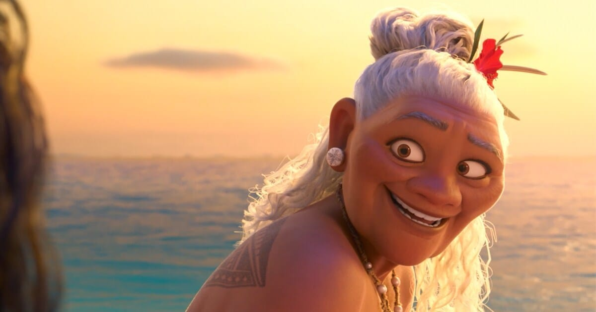 "Animated character Grandma Tala from the movie ""Moana"""