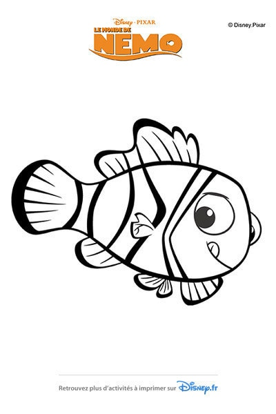 Coloriage Nemo et sa petite godille !