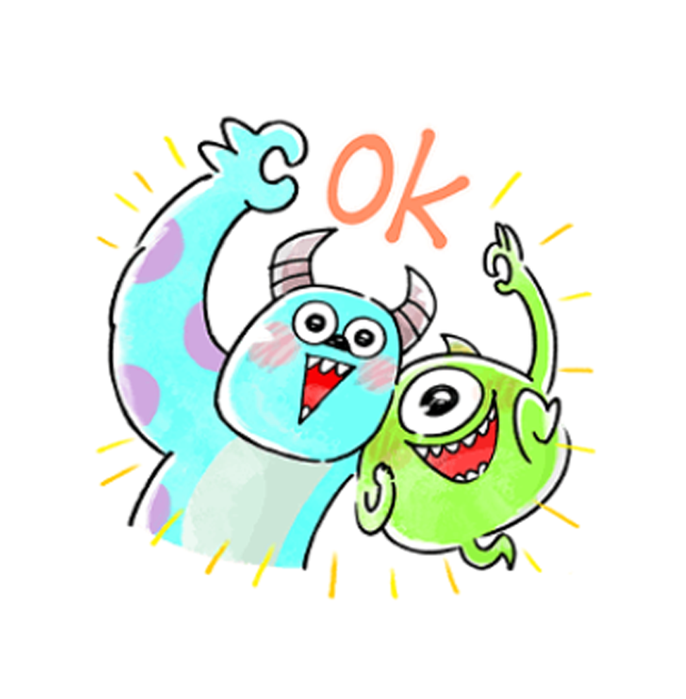 Stickers | Easygoing Monsters,Inc