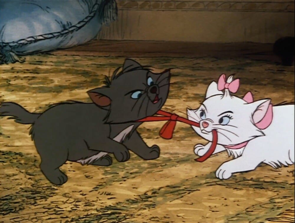 "Cats Berlioz and Marie from the animated movie ""Aristocats"""