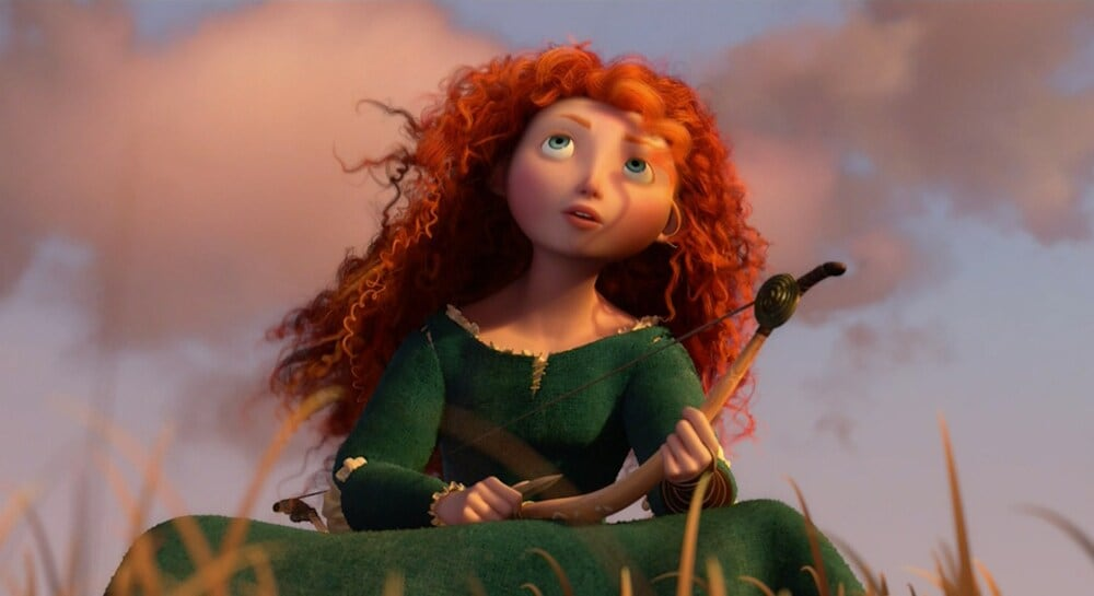 "Animated character Merida from the film ""Brave"""