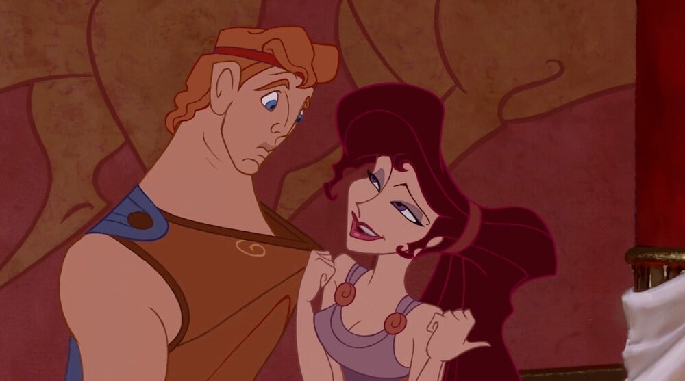 Animated characters Hercules and Meg