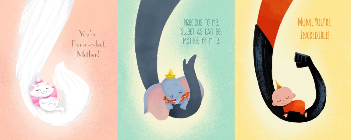 Print and create beautiful Disney Mother's Day Cards