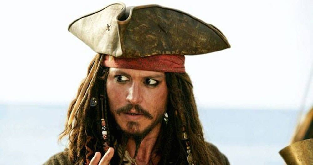 Actor Johnny Depp as Captain Jack Sparrow