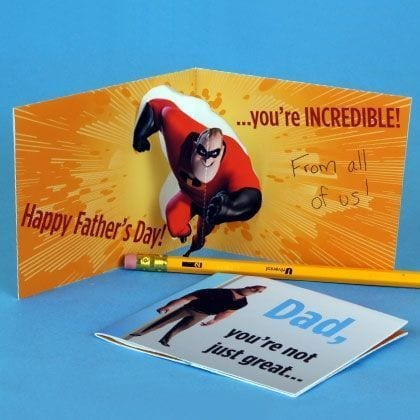 Mr Incredibles Father's Day Card