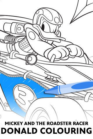 mickey and the roadster racers donald colouring