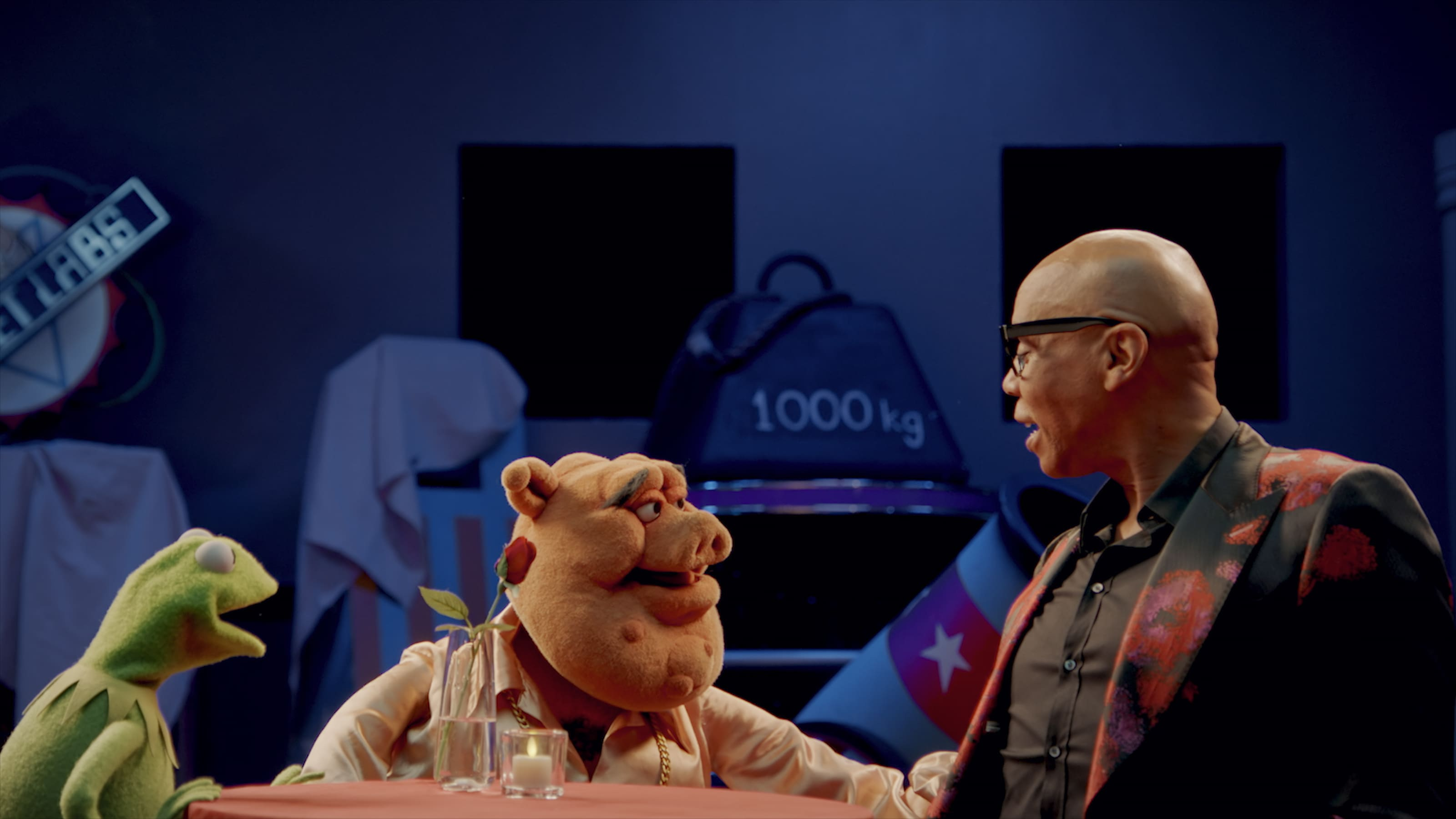 """Kermit and RuPaul in """"Muppets Now,"""" streaming only on Disney+"""