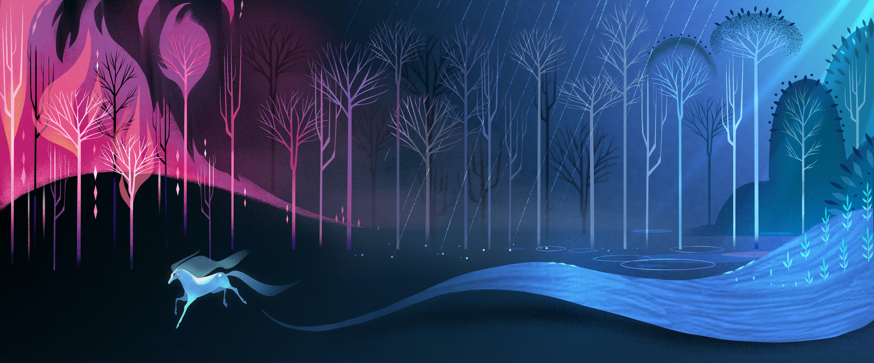 Enchanted forest outside of Arendelle