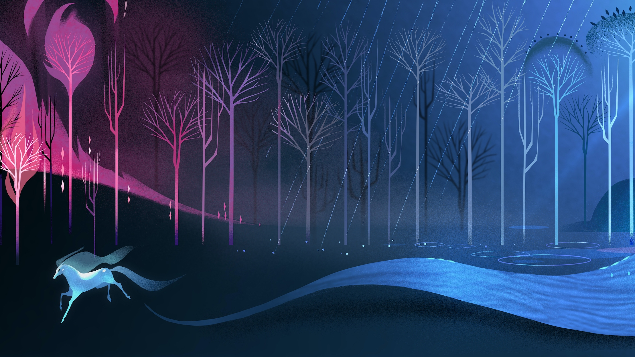 MYTH: A FROZEN TALE - In a forest outside of Arendelle, a family sits down for a bedtime story and is transported to a mystical and enchanted forest where the elemental spirits come to life and the myth of their past and future is revealed. ©2021 Disney. All Rights Reserved.