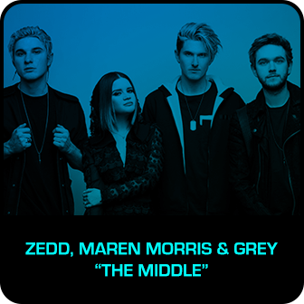 "RDMA 2018 Winner - BEST COLLABORATION - Zedd, Maren Morris & Grey ""The Middle"""