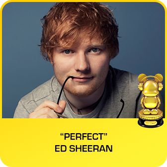 "RDMA 2018 Winner - BEST CRUSH SONG - ""Perfect"" by Ed Sheeran"