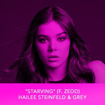 "RDMA 2017 Winner - BEST CRUSH SONG - ""Starving (f. Zedd)"" – Hailee Steinfeld & Grey"