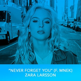 "RDMA 2017 Winner - BEST DANCE TRACK - ""Never Forget You (f. MNEK)"" by Zara Larsson"