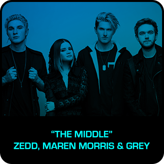 "RDMA 2018 Winner - BEST DANCE TRACK - ""The Middle"" by Zedd, Maren Morris & Grey"