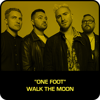 "RDMA 2018 Winner - BEST SONG THAT MAKES YOU SMILE - ""One Foot"" by Walk The Moon"