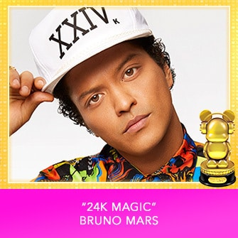 "RDMA 2017 Winner - INTERNATIONAL - BEST SONG THAT MAKES YOU SMILE - ""24K Magic"" by Bruno Mars"