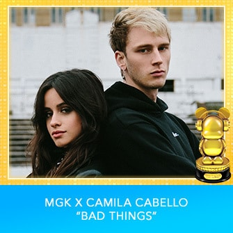 "RDMA 2017 Winner - INTERNATIONAL - BEST COLLABORATION - MGK X Camila Cabello ""Bad Things"""