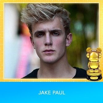 RDMA 2017 Winner - INTERNATIONAL - FAVORITE SOCIAL MEDIA STAR - Jake Paul